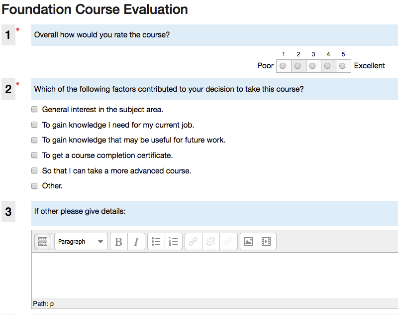 Snomed Ct E Learning Course Guide Course Evaluation Form